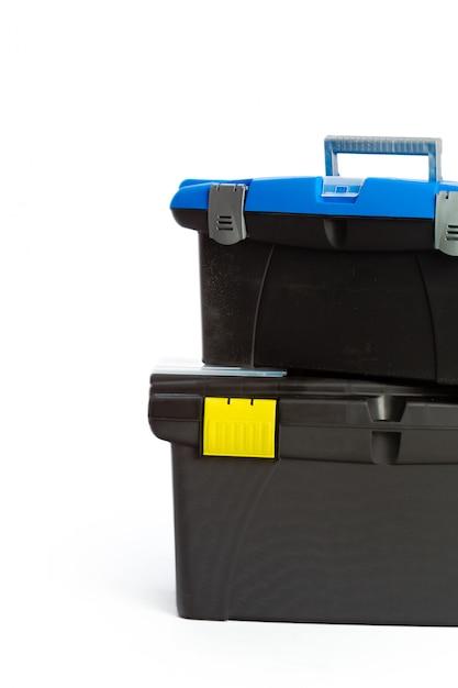 Boîte à outils isolée sur fond blanc Photo Premium