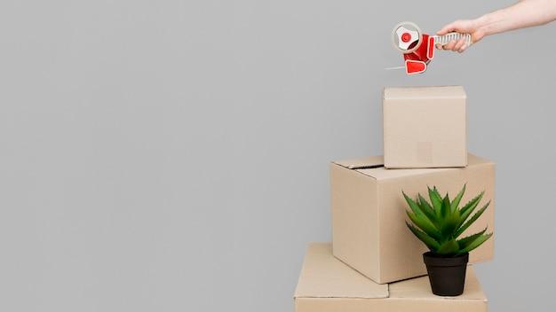 Boîtes En Carton Avec Espace Copie Photo gratuit