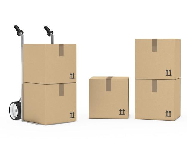 Boîtes en carton préparés pour le déménagement Photo gratuit