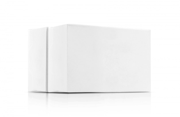 Boîtes en papier blanc Photo Premium