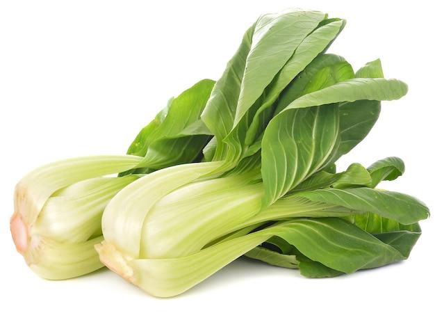 Bok choy légume sur fond blanc Photo Premium