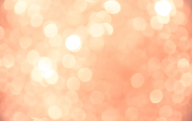 Bokeh abstrait fond doré rose Photo Premium