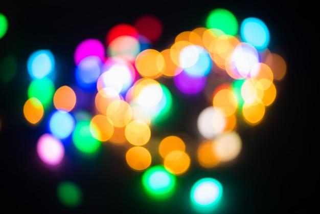 Bokeh - arrière-plan flou abstrait - fuites de lumière Photo Premium