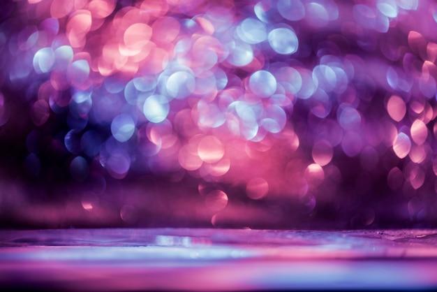 Bokeh glitter colorfull abstrait flou pour anniversaire, nouvel an ou noël Photo Premium