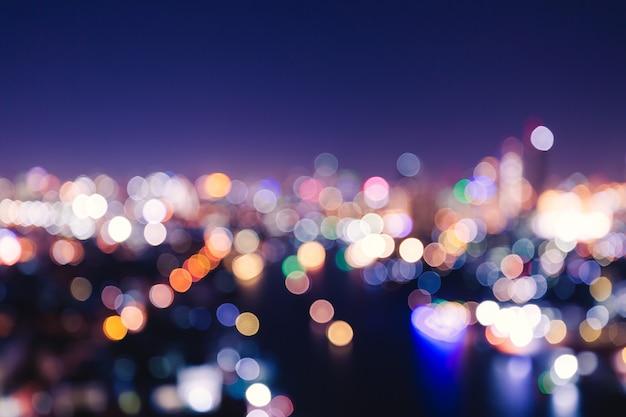 Bokeh léger de la ville Photo Premium