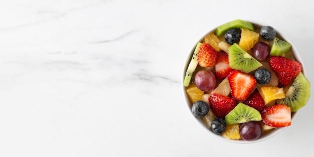 Bol D'espace De Copie De Fruits Sains Photo gratuit