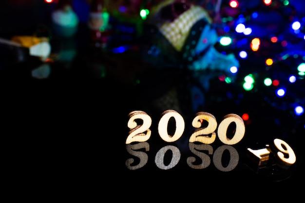 Bon Numéro De Bois 2020 Décoration De Noël Photo Premium