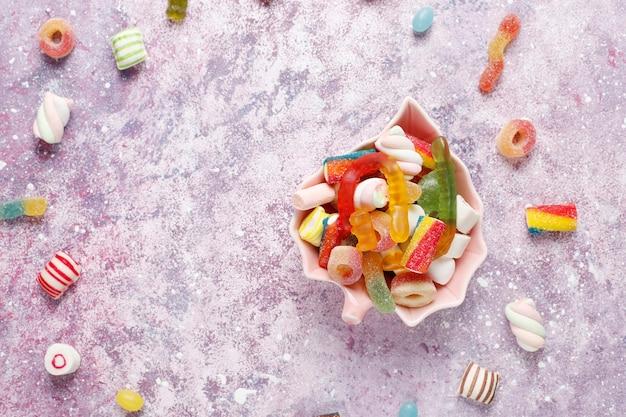 Bonbons Colorés, Gelée Et Marmelade, Bonbons Malsains. Photo gratuit