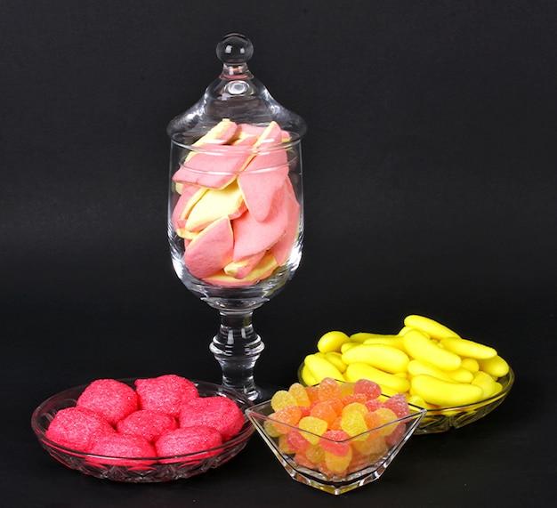 Bonbons à la gelée colorés et à la guimauve Photo Premium