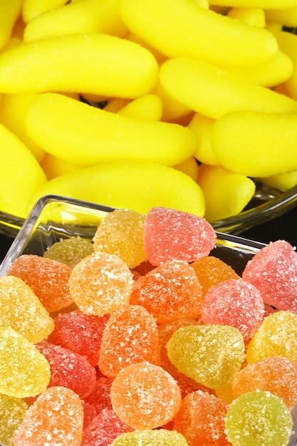 Bonbons à la gelée colorés Photo Premium