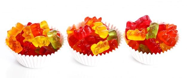 Bonbons Gommeux Colorés D'ours Photo gratuit