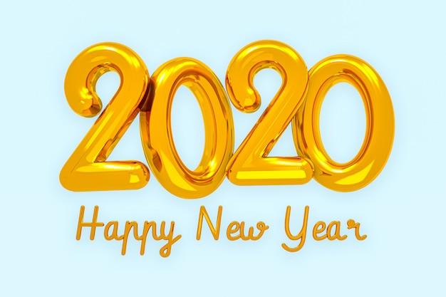 Bonne Année 2020 Creative Design Concept, Carte De Voeux Photo Premium
