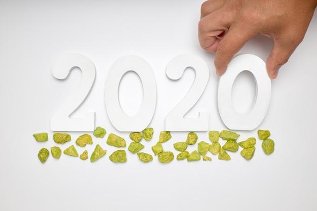 Bonne année 2020. symbole du numéro 2020 Photo Premium