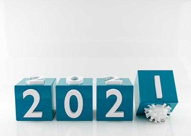 Bonne Année 2021 Et Coronavirus Photo Premium