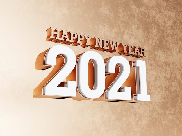 Bonne Année 2021 Fond De Lettres Grasses Dorées | Photo Premium
