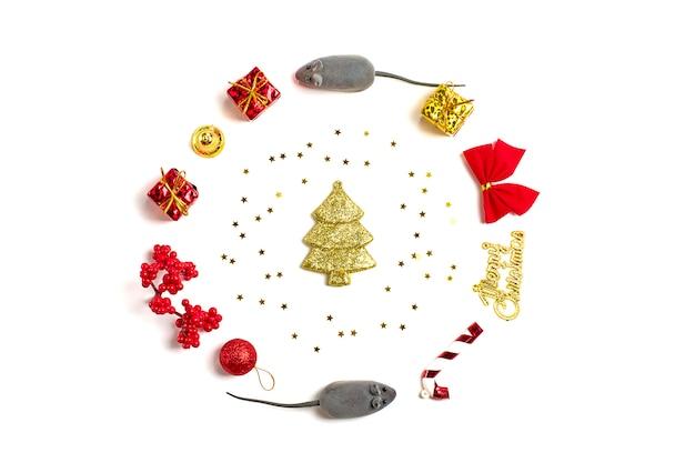 Bonne année. année du rat selon le calendrier chinois Photo Premium