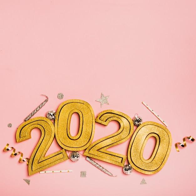 Bonne année avec chiffres 2020 avec espace de copie Photo gratuit