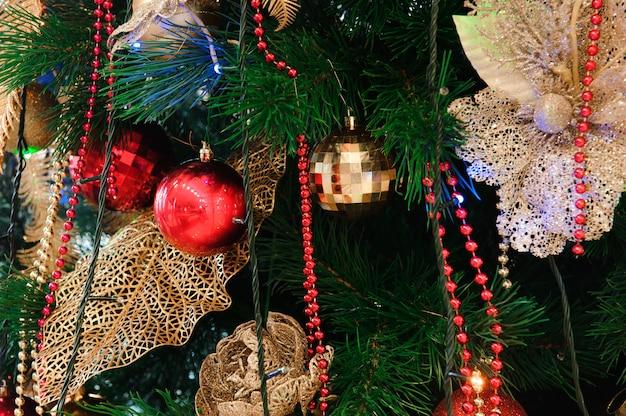 Bonne Année Et Fond De Carte De Décoration Joyeux Noël Photo Premium