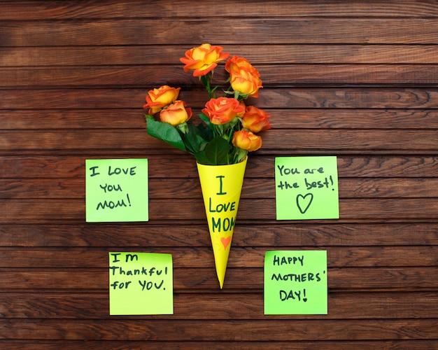 Bonne note de rappel de la fête des mères Photo Premium