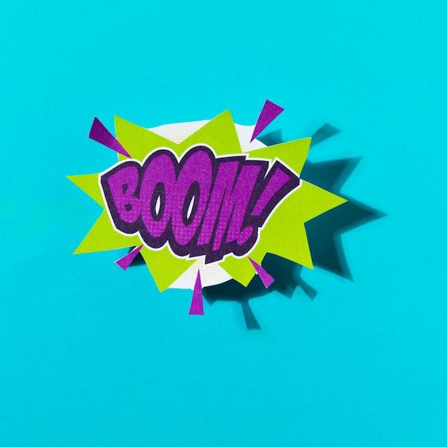 Boom texte texte coloré effet sonore de style pop art Photo gratuit