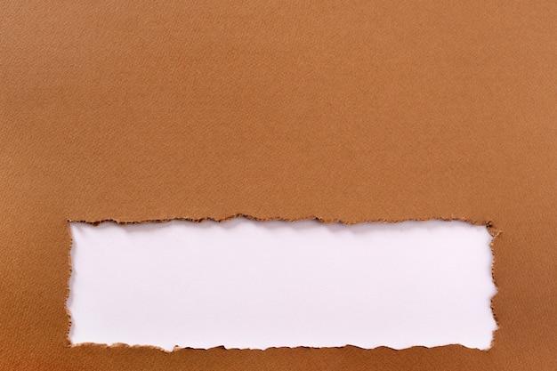 Bordure inférieure du cadre de fond de papier brun déchiré Photo gratuit