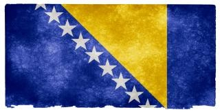 Bosnie-herzégovine grunge drapeau jaune Photo gratuit