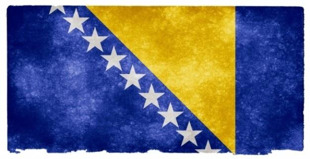 Bosnie-herzégovine grunge flag Photo gratuit