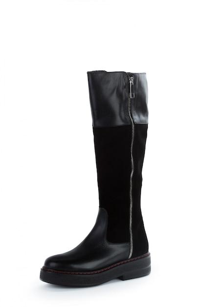 Bottes en cuir femme haut genou isolés Photo Premium