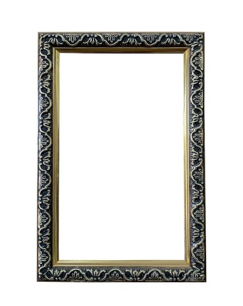 Bouchent le vieux cadre photo en bois Photo Premium