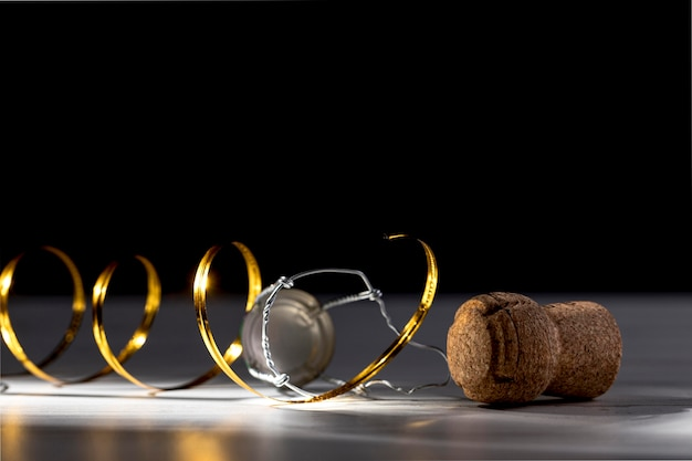 Bouchon De Bouteille De Champagne En Gros Plan Photo gratuit