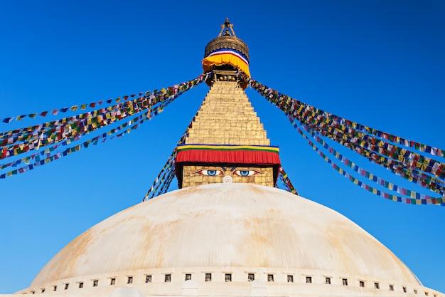 Boudhanath stupa, katmandou Photo Premium