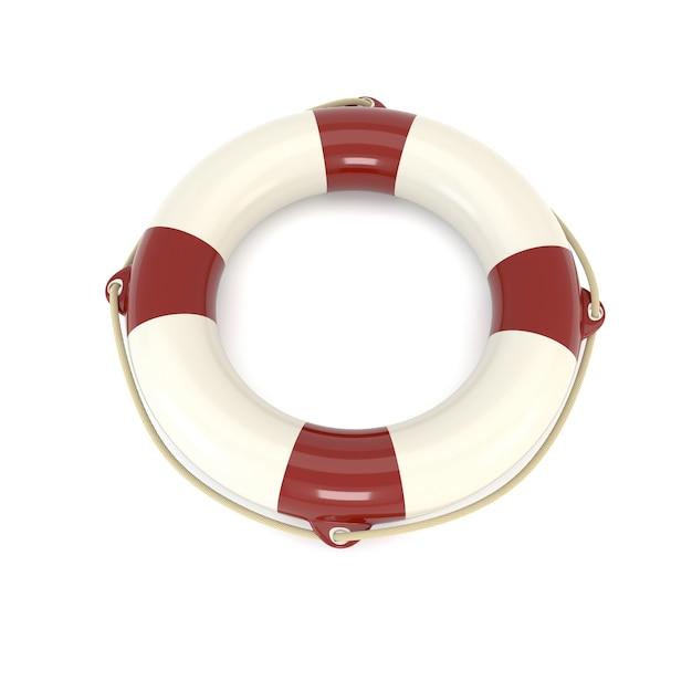 Bouée de sauvetage icône isolé sur fond blanc. sos, protection, gardien. illustration 3d Photo Premium