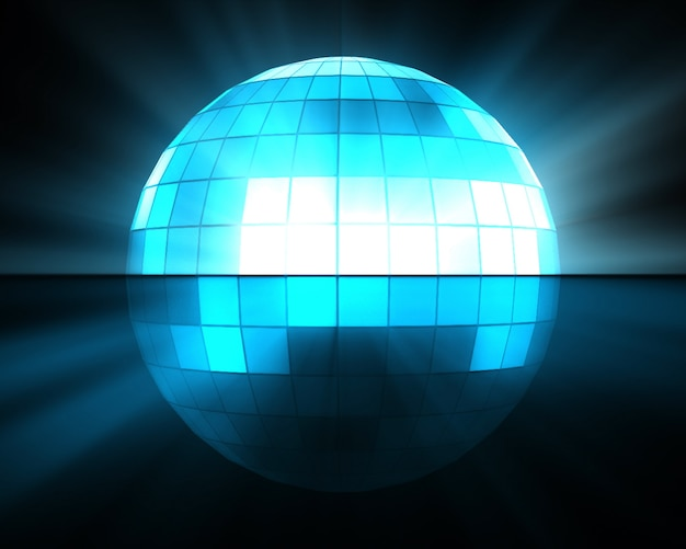 Boule disco bleue Photo Premium