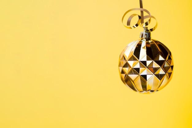 Boule Disco Décorative En Or Photo gratuit