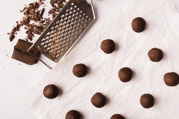 Boules de chocolat Photo gratuit