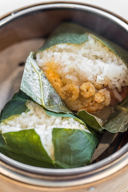 Boulette de riz gluant Photo Premium