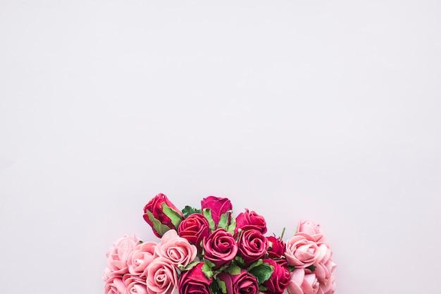 Bouquet De Belles Roses Photo Premium