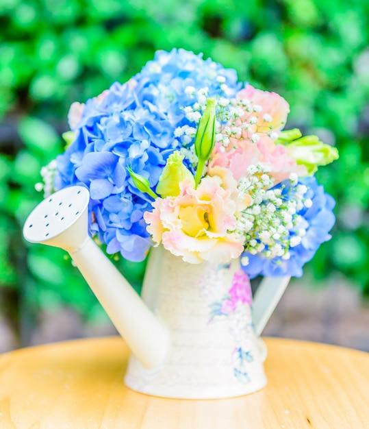 Bouquet de fleurs hortensia Photo gratuit