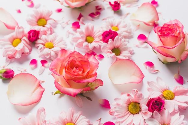 Bouquet De Jolies Fleurs Et Pétales | Photo Gratuite