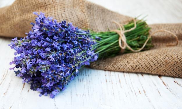 Bouquet De Lavande Photo Premium