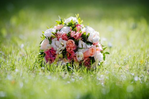 Bouquet de mariage bel été Photo Premium