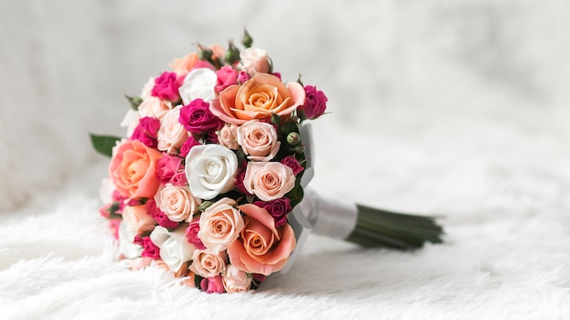 Bouquet De Mariage Photo Premium