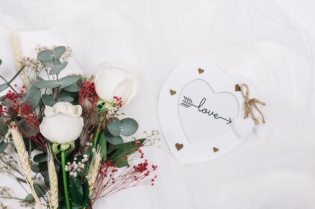 Bouquet de mariée de fleurs Photo gratuit