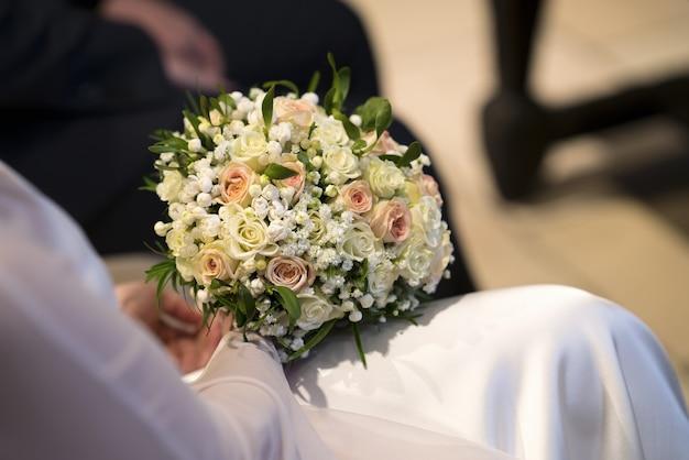 Le bouquet de la mariée Photo Premium