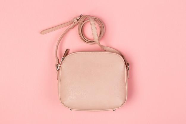 Bourse de sac à main femme bouchent la vue de dessus de couleur Photo Premium