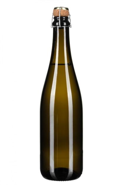 Bouteille de champagne isolé on white Photo Premium