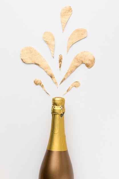 Bouteille De Champagne Plate Photo gratuit