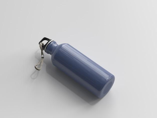 Bouteille d'eau en aluminium rendu 3d Photo Premium