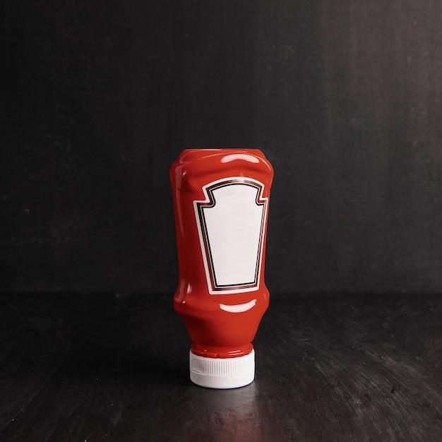 Bouteille de ketchup Photo gratuit
