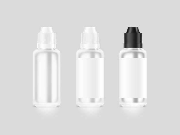 Bouteille De Liquide Vape Blanc Blanc Isolé Photo Premium